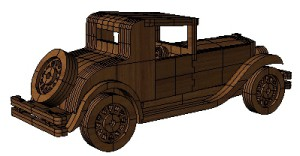 3D модель автомобиля