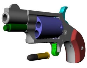 Трехмерная модель револьвера
