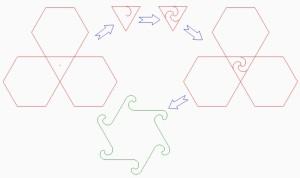Получение необычной фигуры из шестиугольника