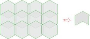 Получение контура на базе шестиугольника