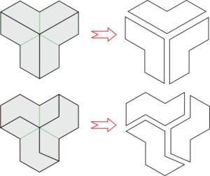 Фигуры на основе правильного шестиугольника