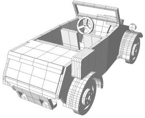 Модель Kubelwagen из фанеры